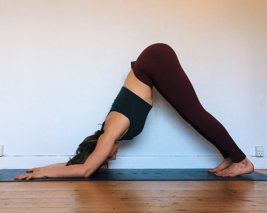dolphin pose to build shoulder mobility and strength for handstands