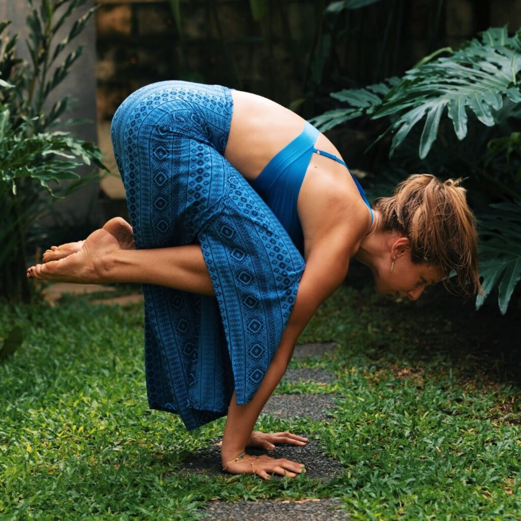 crow pose from yoga