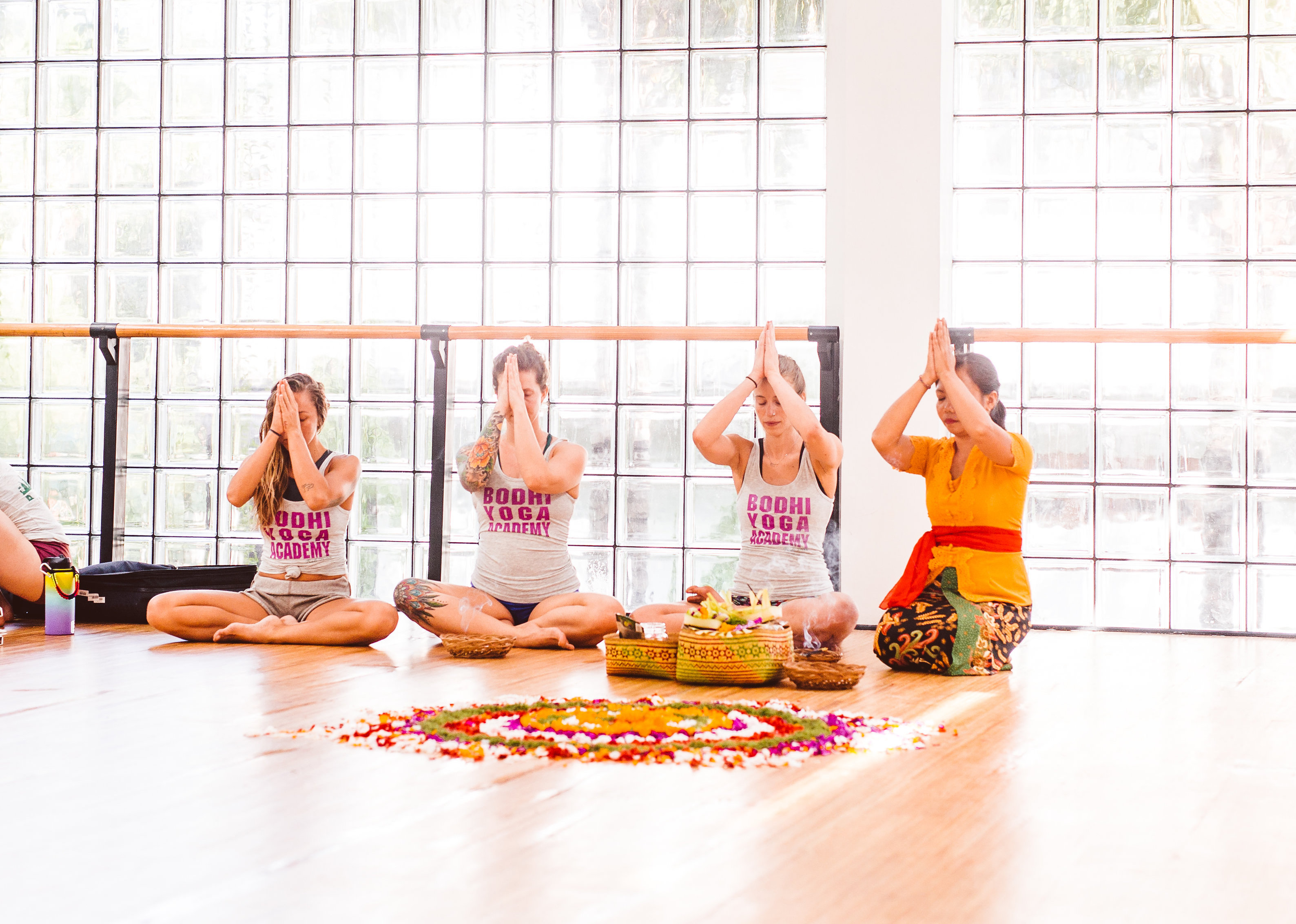 my 200 hour vinyasa yoga teacher training bali at Ubud Yoga centre meditation