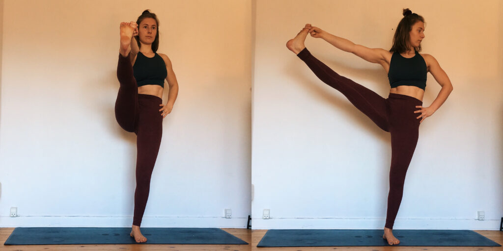 Leg mobility for handstand standing yoga pose