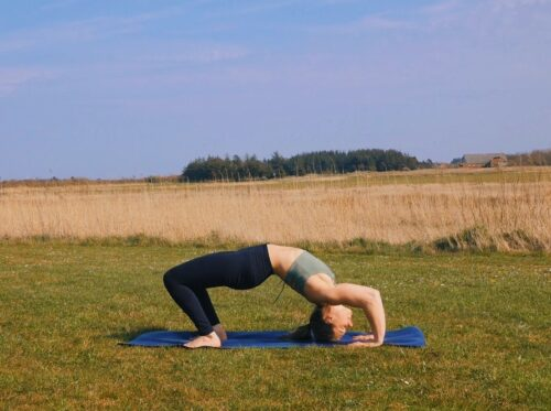 How to enter wheel pose from the floor