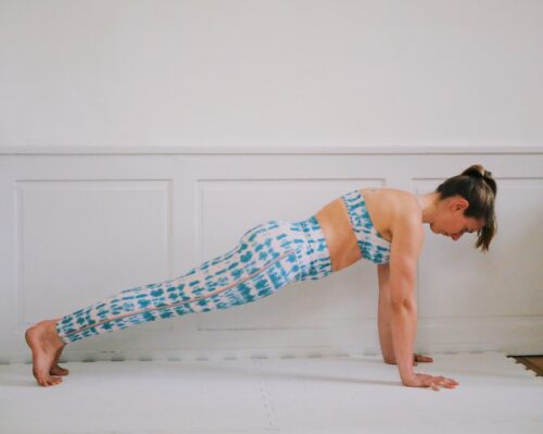 Plank shoulder blade push-ups