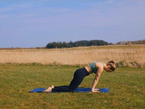 A yoga wrist stretch