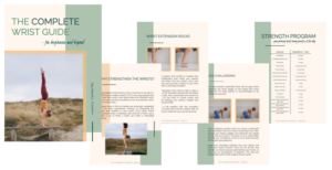Free wrist strength ebook guide for yoga and handstands.